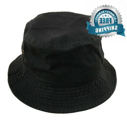 men women unisex cotton bucket hat