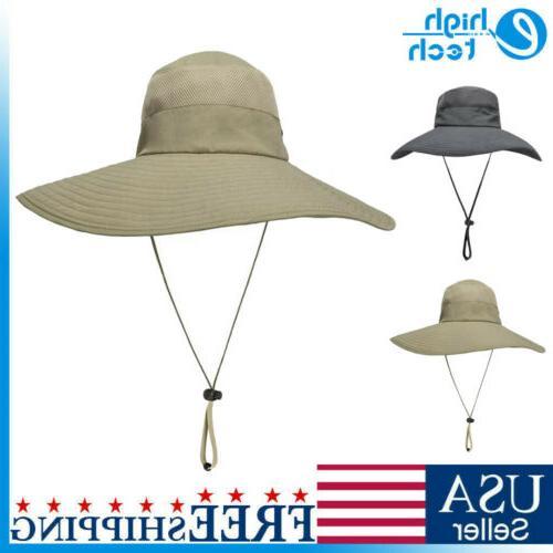 men women wide brim bucket boonie hat