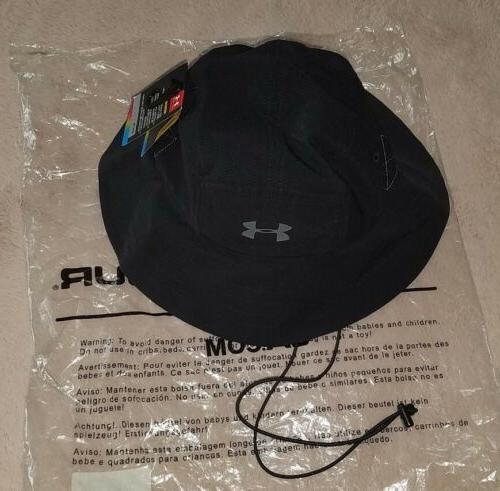 mens black gray vent bucket hat golf