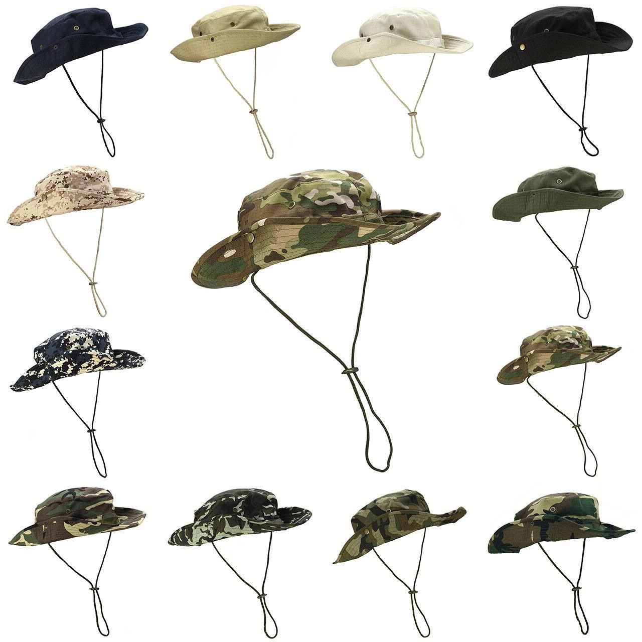 Mens Bucket Hat Safari Fishing Military Wide Brim