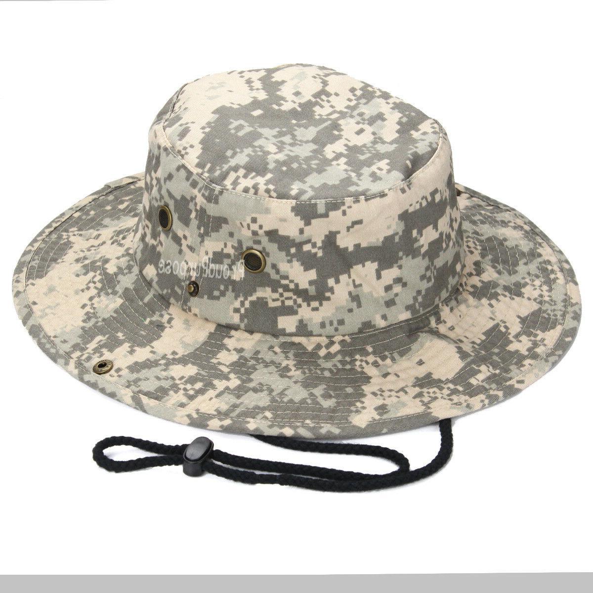 Mens Boonie Bucket Brim Digital Camo Military
