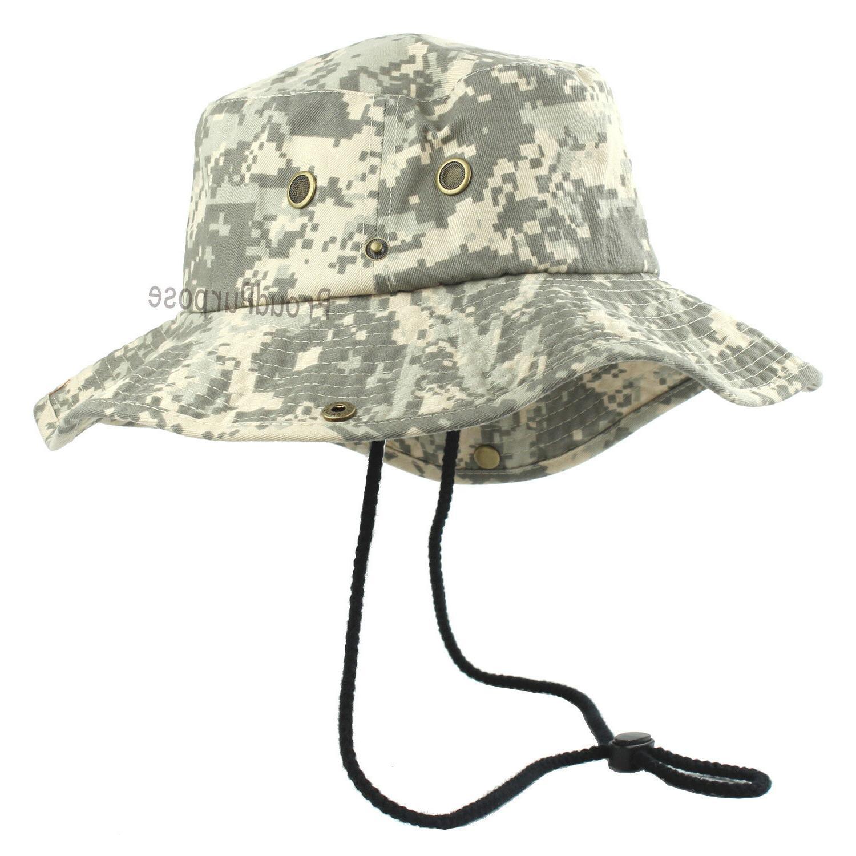 mens boonie bucket wide brim hat digital