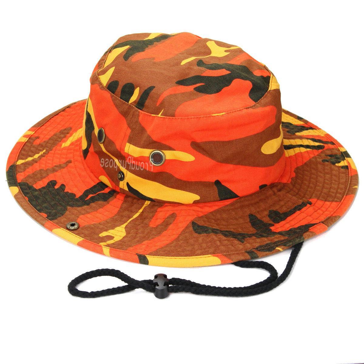 Mens Boonie Bucket Brim Savage Camo Cotton Safari Military