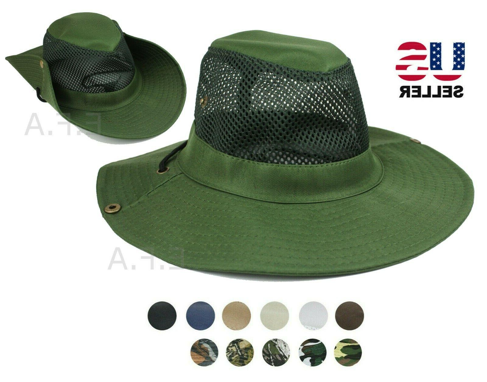 mens bucket boonie hat fishing sun visor