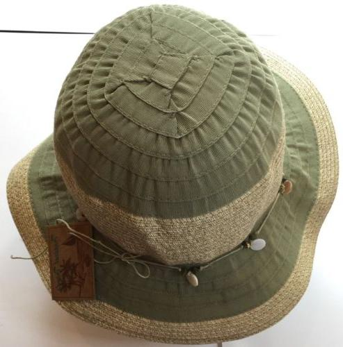 Men's Bucket Hat Dorfman Pacific Green/ Sand NWT Fishing
