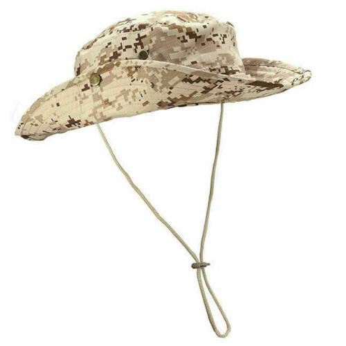 Mens Boonie Bucket Hat Wide Brim Safari Fishing US