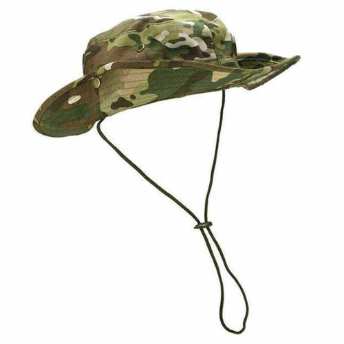 Mens Camo Boonie Bucket Hat Safari Cap Hunting Fishing US