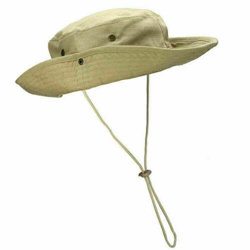 Mens Camo Hat Military Safari Hunting Sun Fishing US