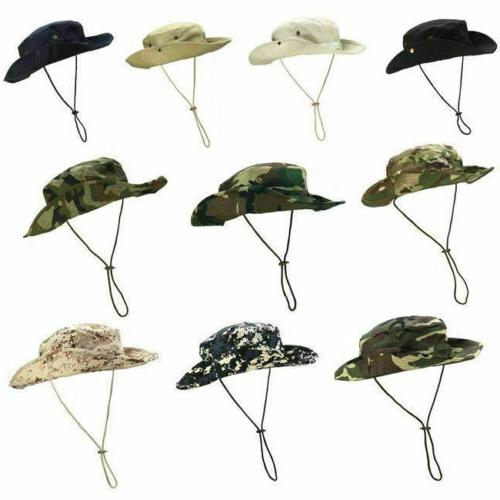 mens camo boonie bucket hat military wide