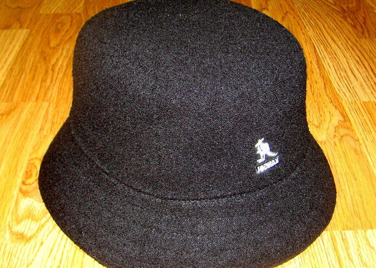 Mens Classic Kangol Bermuda Bucket Hat Color Black