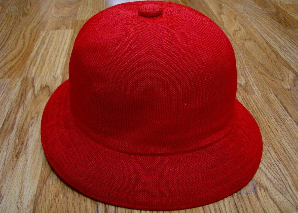 Mens Casual Bucket Cap Red