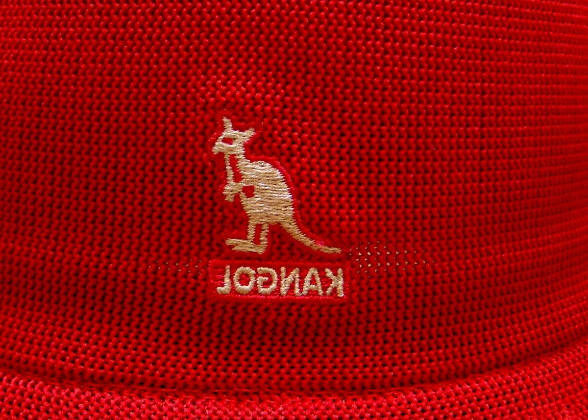 Mens Classic Kangol Tropic Casual Bucket Red