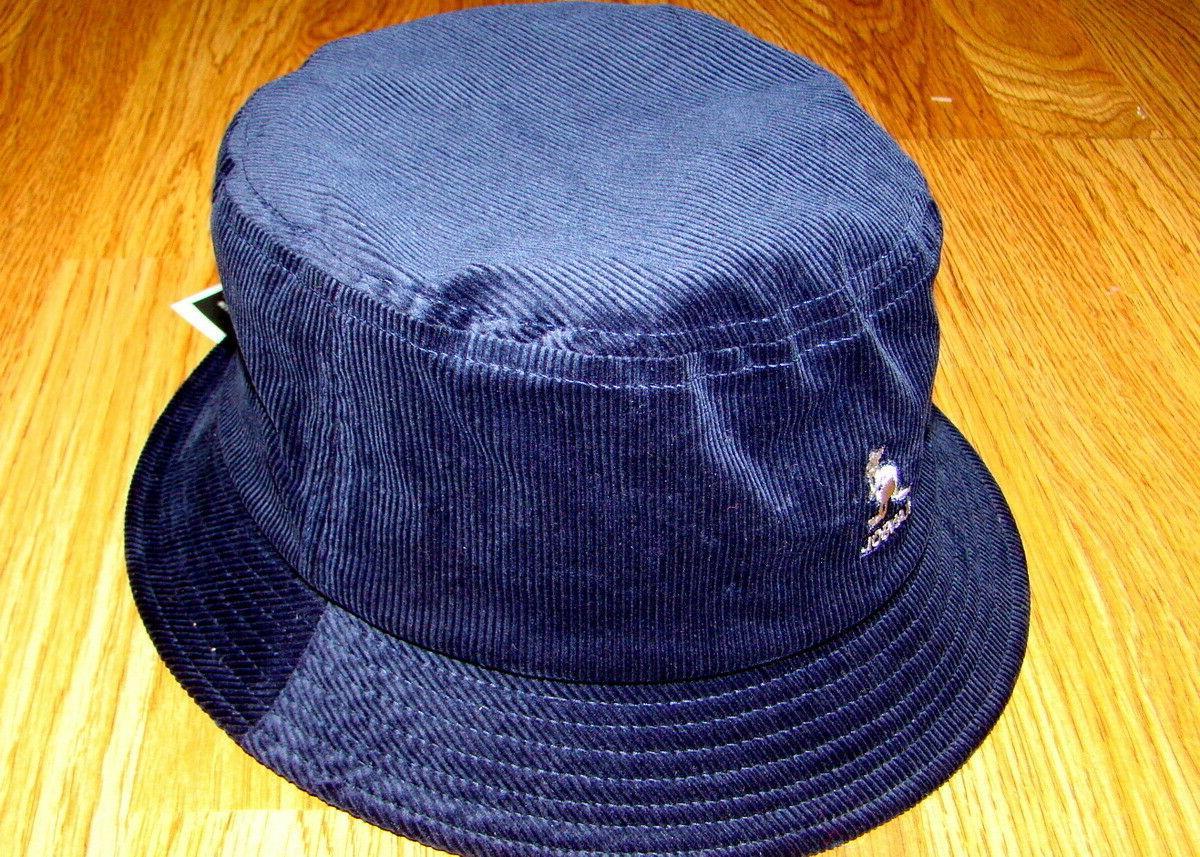 Mens Kangol Cord Bucket Hat Color Navy