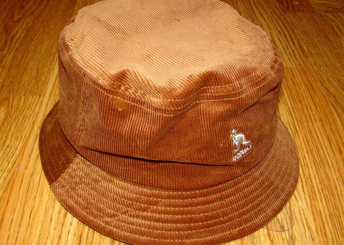 Mens Kangol Cord Bucket Hat Color Wood