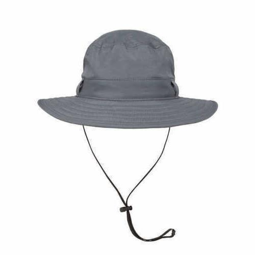 Solar Escape Mens Hat UV Black Explorer Bucket UPF 50+ Wide