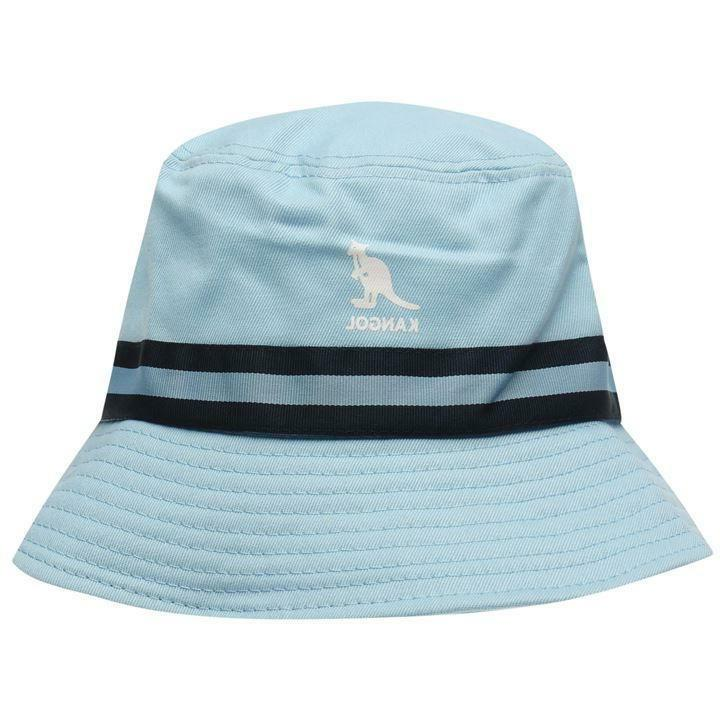 Mens Kangol Logo Stripe Bucket Cotton Headwear Sizes S XL