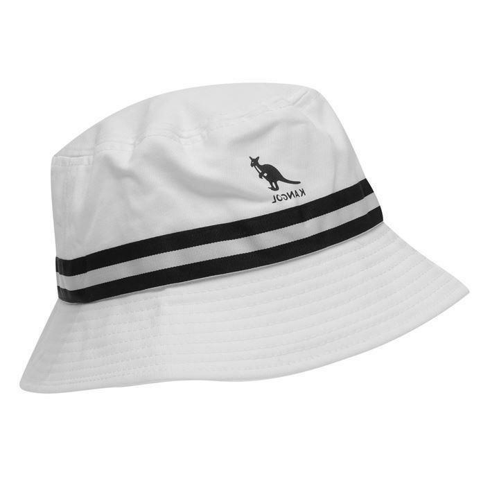 Mens Kangol Logo Stripe Bucket Sizes S M XL