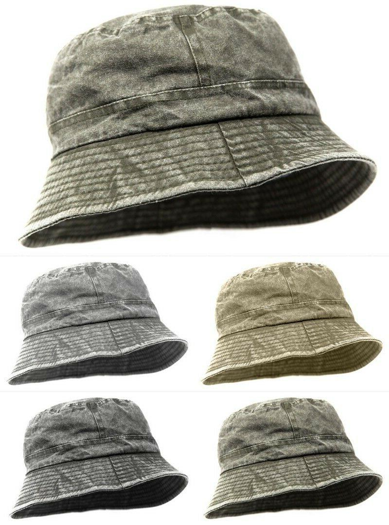 mens short brim cotton visor boonie bucket