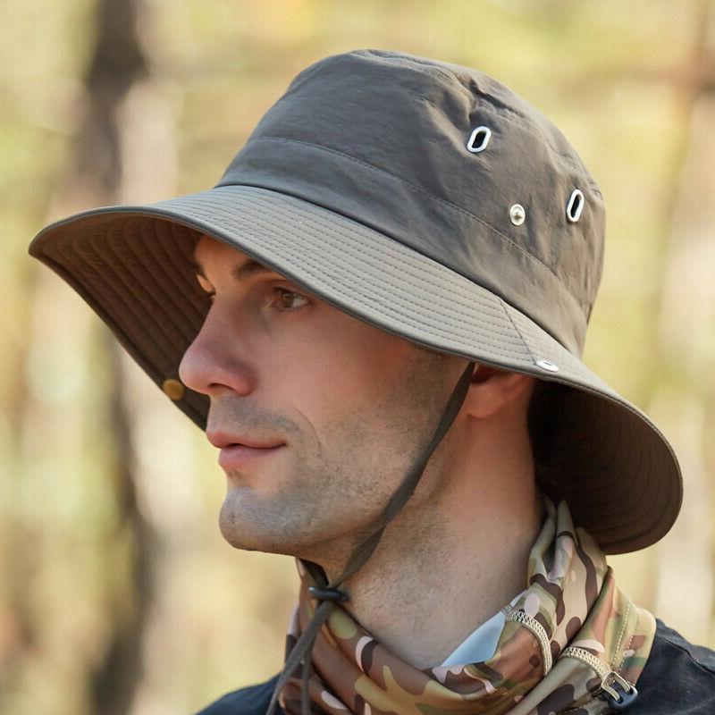 Mens Waterproof Outdoor Sun Protection Safari Cap 50+