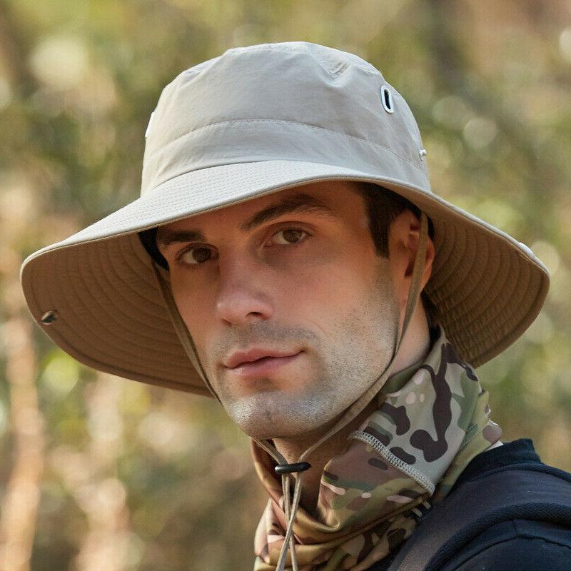 Mens Outdoor Bucket Safari Wide Cap UPF 50+