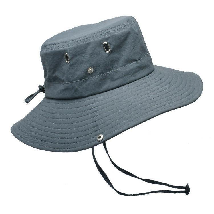 Mens Outdoor Sun Protection Safari Wide 50+