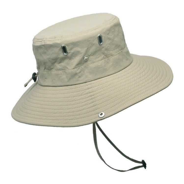 Mens Sun Outdoor Sun Bucket Safari Wide 50+