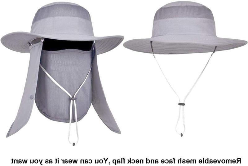 Mens Sun Outdoor UV Sun Bucket Brim
