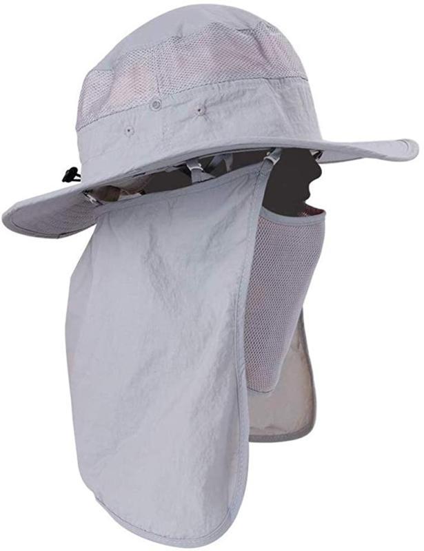 Mens Waterproof Sun Hat Outdoor Protection Bucket Brim