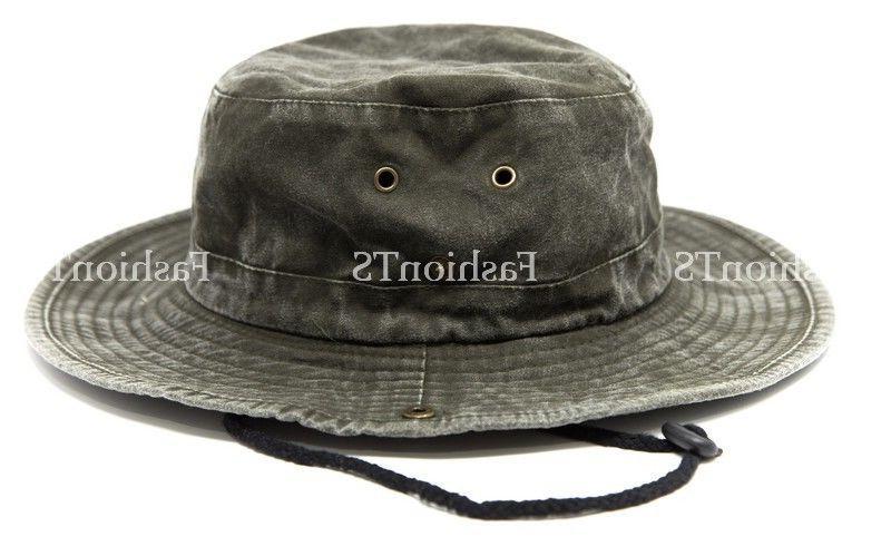 Mens Brim Visor Boonie Bucket Hat Outdoor Summer