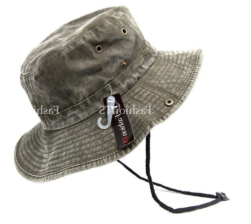 Mens Wide Visor Bucket Hat