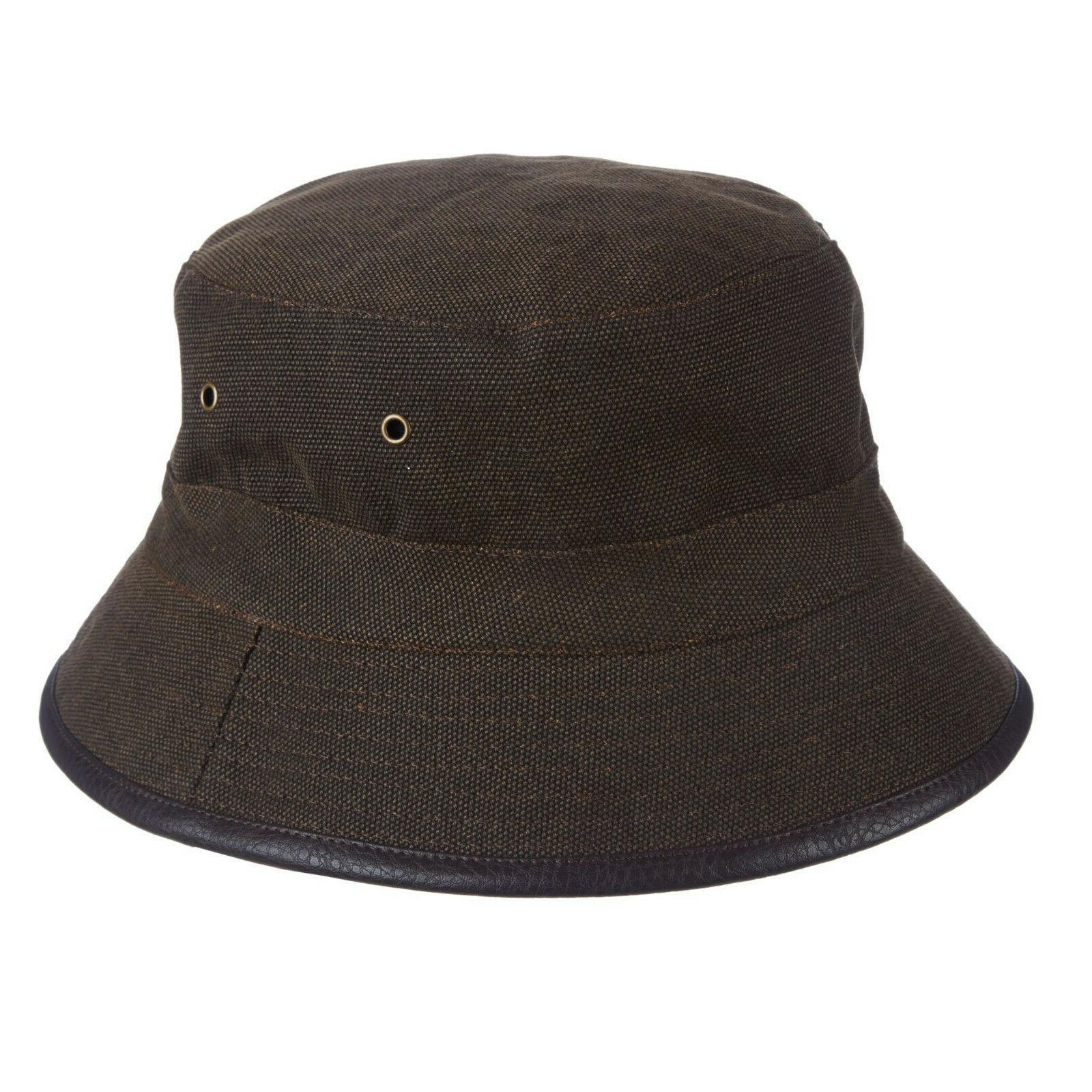 mens winter canvas brown bucket hat size