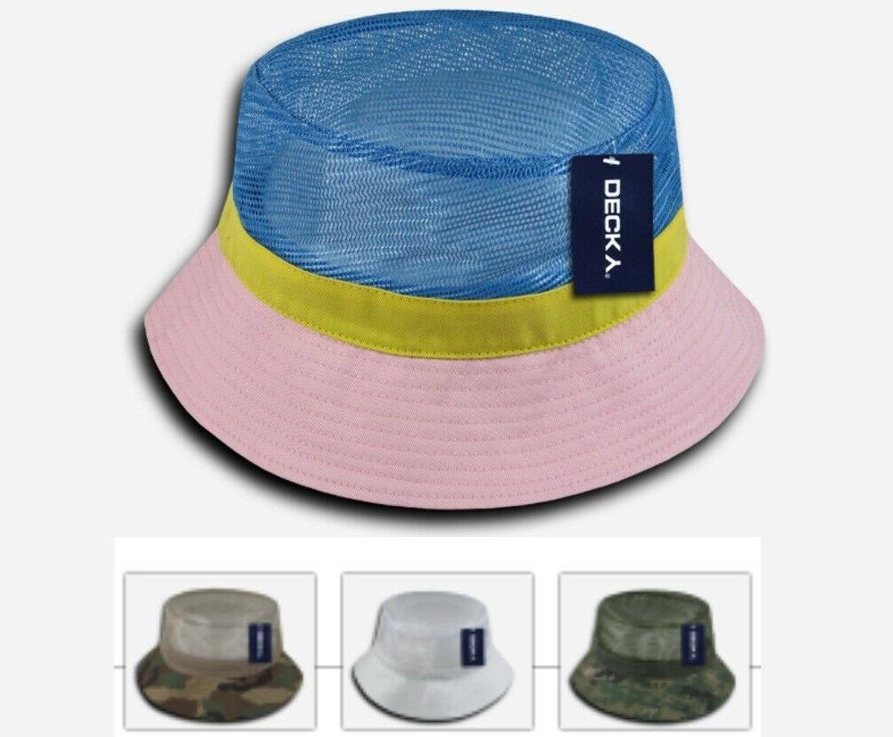 mesh bucket hat open mesh top pink