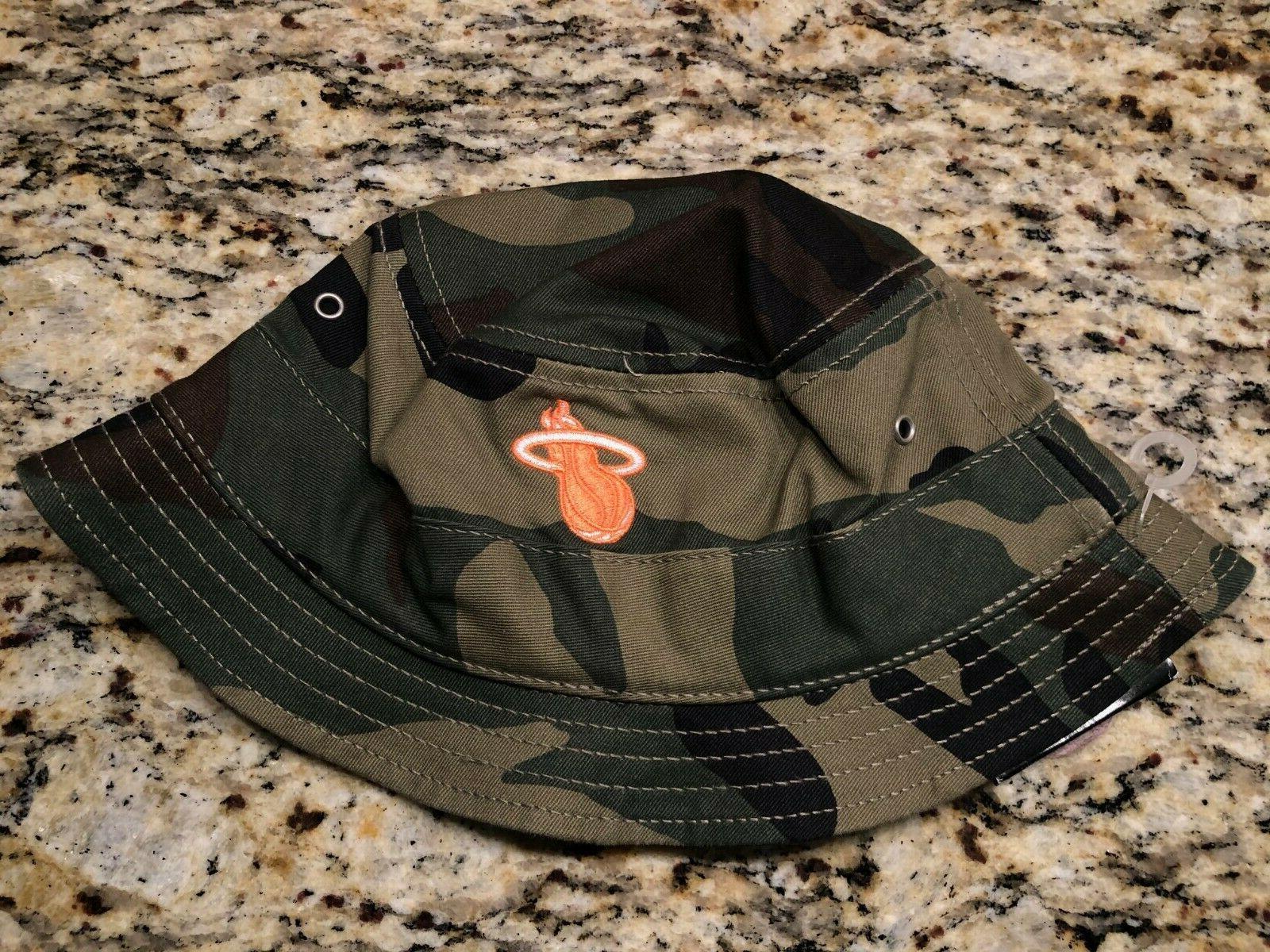 miami heat authentic nba camo bucket hat