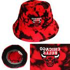 Mitchell & Ness Chicago Bulls Bucket Hat Color Acid Wash Red