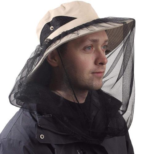 Mosquito Head Net Hat,Fishing Bucket Hat Safari Hat with Rem