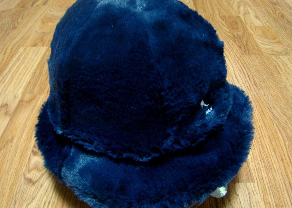 Mens Kangol  Faux Fur  Casual  Bucket  Hat  Color  Navy