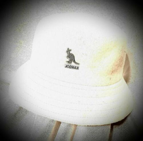new bucket hat woolmark blend felt white