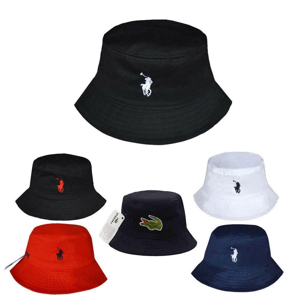 new men women bucket hat polo style