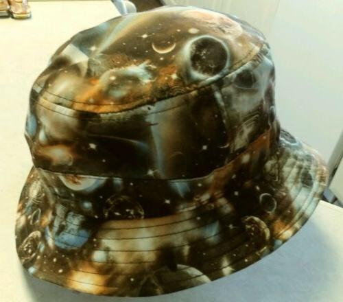 New Mens Brown/Multi-Color 'E-Flag' Cosmic Bucket Hat