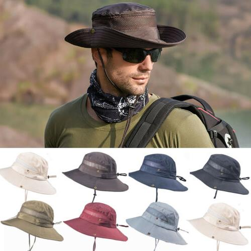 NEW Mens Sun Hat Hiking Cap Wide Brim Protection