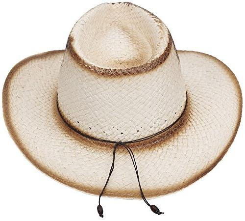 Simplicity New Classic Cowboy Straw Hat,Natural