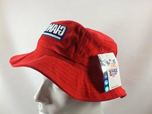 NEW GIANTS VINTAGE BUCKET L/XL RED NWT DREW PEARSON
