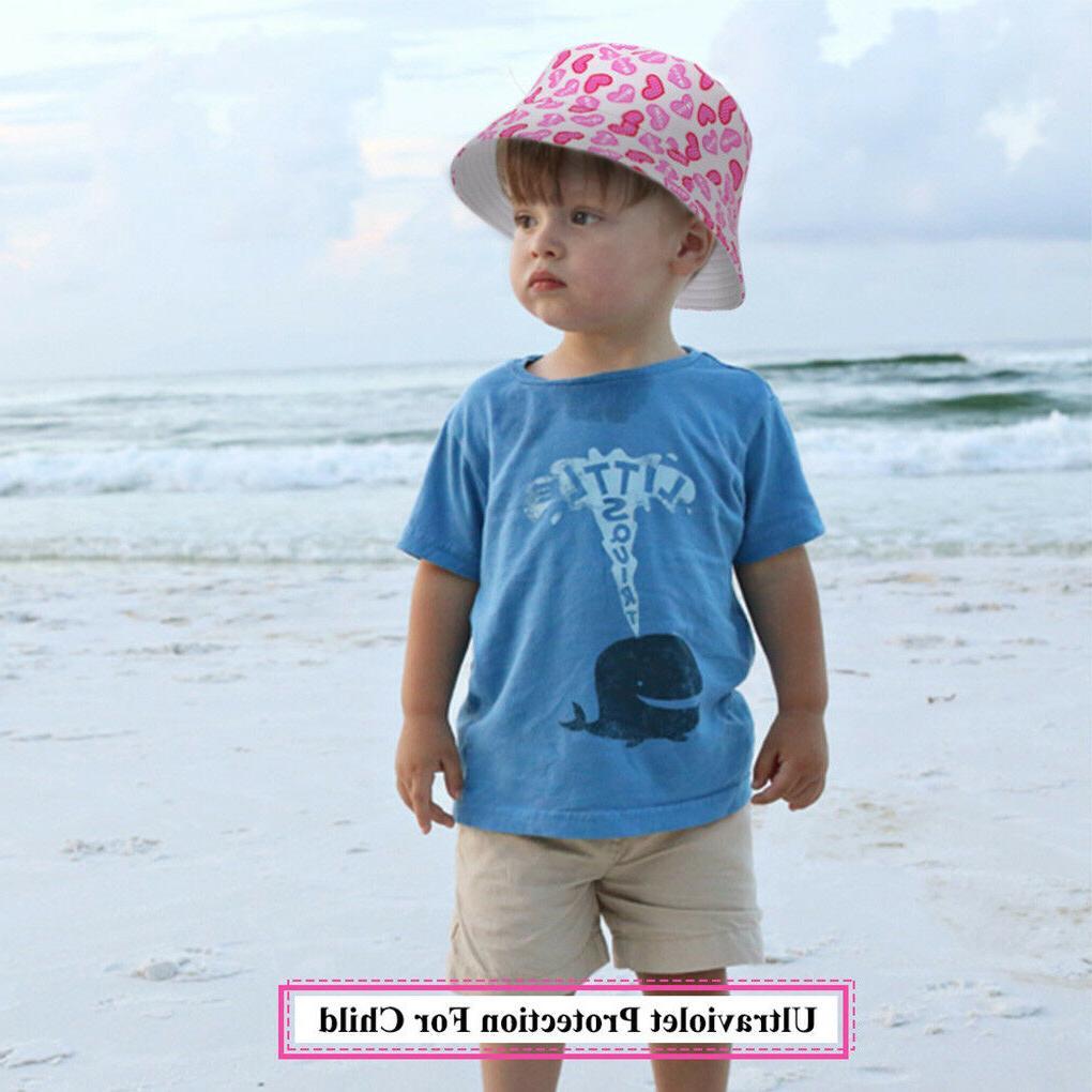 Newborn Girls Summer Bucket Outdoor Sun Hat Infant