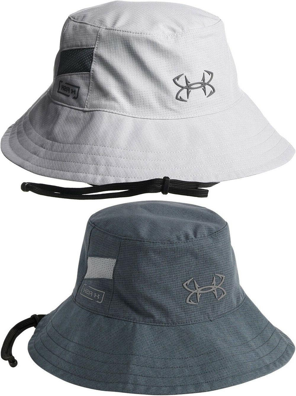 nwt men armourvent thermocline bucket hat fish