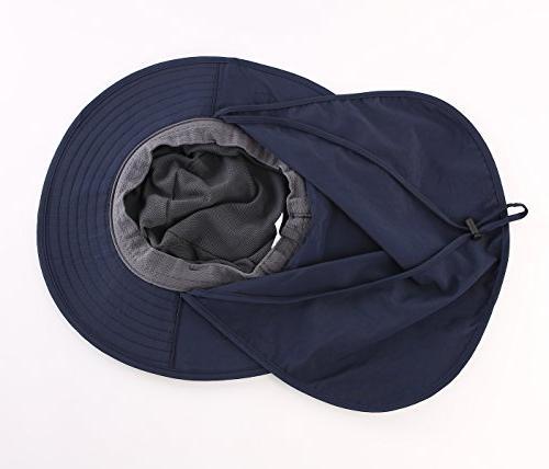 Home Prefer Outback Safari Hat Hat Fishing Neck Flap Bucket Navy