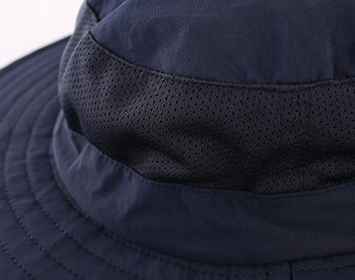 Home Mens Safari Hat UPF50+ Hat Fishing Neck Navy Blue