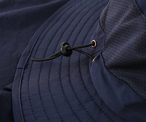 Home Mens Safari Hat UPF50+ Sun Hat Neck Bucket Navy