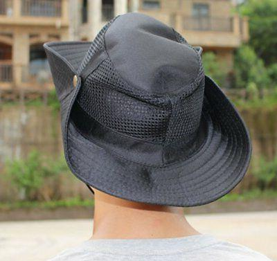 Panegy Outdoor Big-brimmed Mesh Boonie Cap Cowboy Hat -