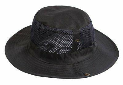 outdoor big brimmed mesh boonie cap cowboy