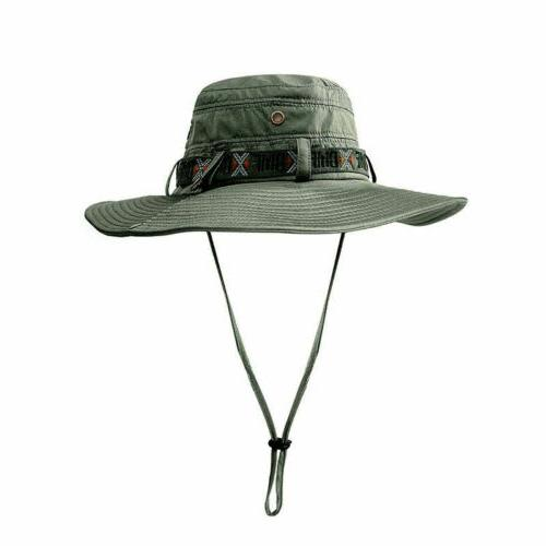 Outdoor Fishing Bucket Hat Hiking Hunting Brim Sun